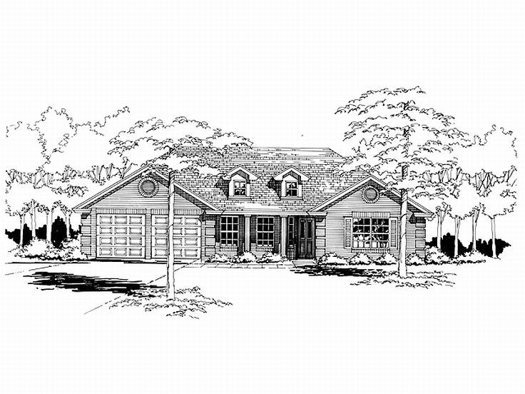 Traditional House Plan, 036H-0001