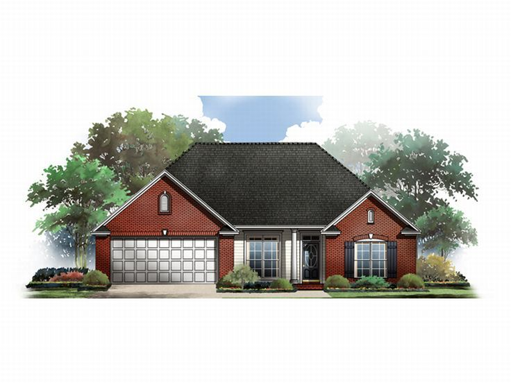 Ranch Home Plan, 001H-0037
