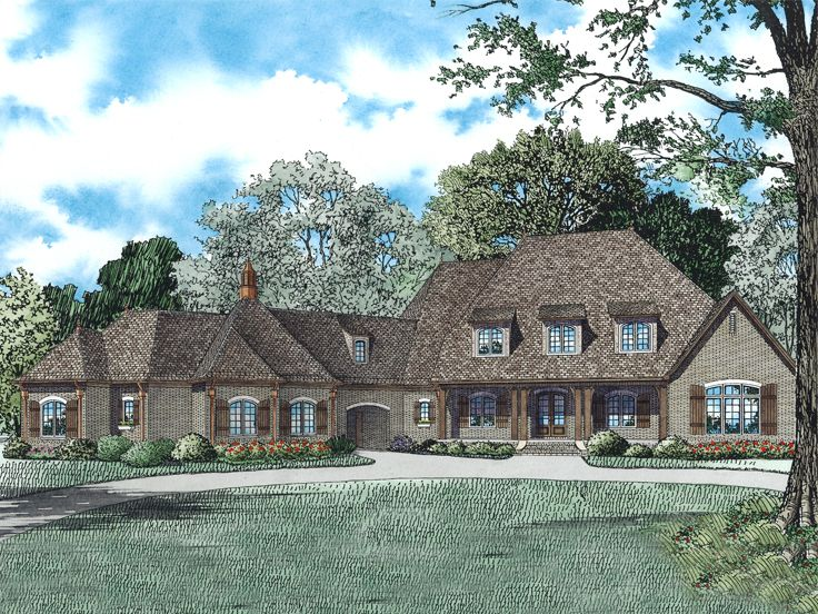European House Plan, 025H-0303
