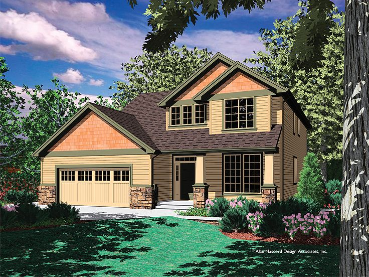 Two-Story House Plan, 034H-0104