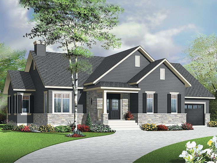 Empty Nester Home Plans Affordable Empty Nester House Plan 027H