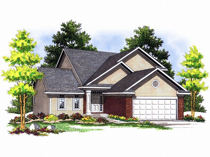 Narrow Lot Home Plan, 020H-0066