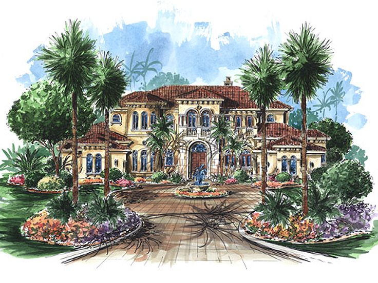 Mediterranean Home Plan, 037H-0166