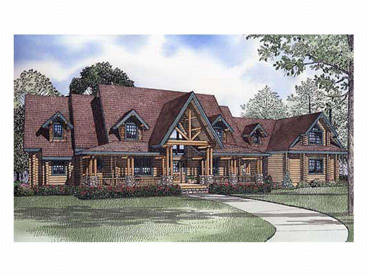 Log Home Plan, 025L-0053