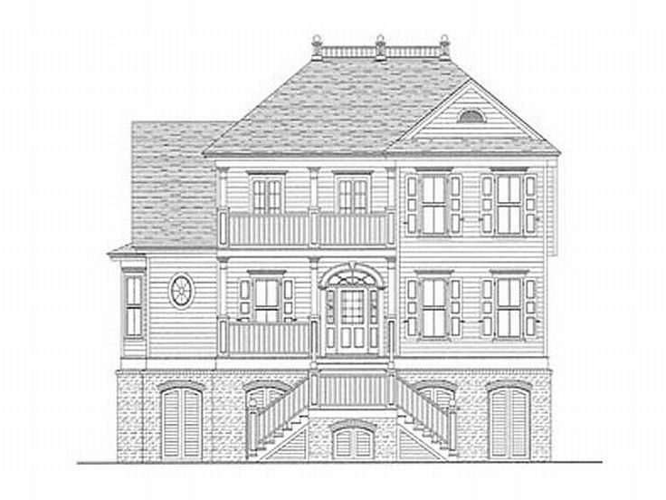 Charleston House Plan, 017H-0017