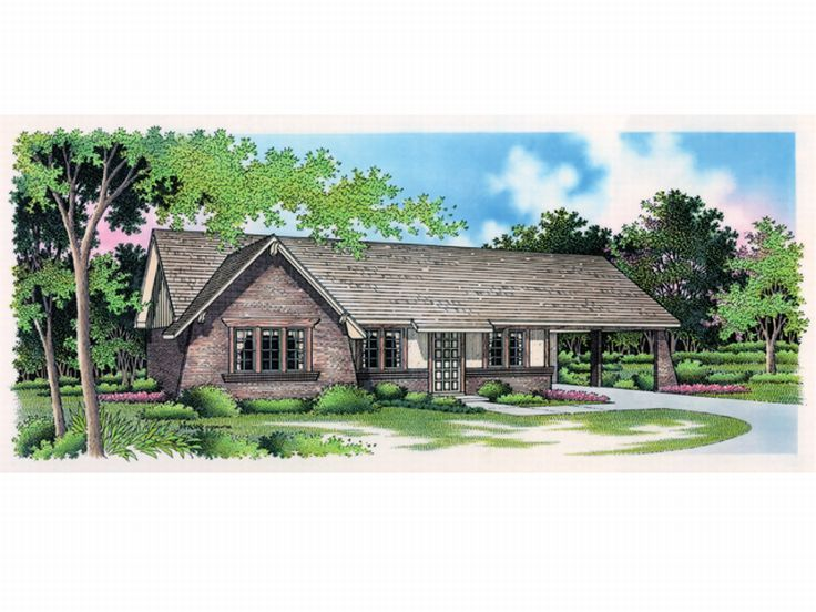 Ranch House Plan, 021H-0008