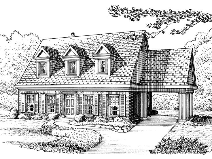 Cape Cod Home Plan, 054H-0080