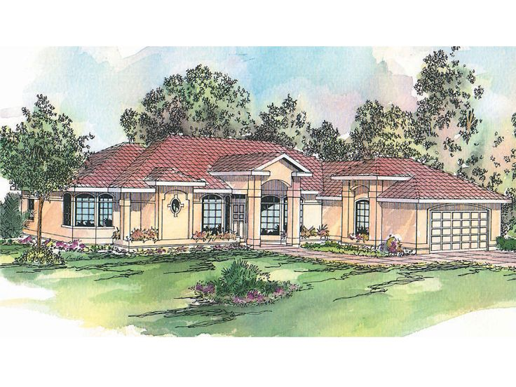 Sunbelt House Plan, 051H-0049