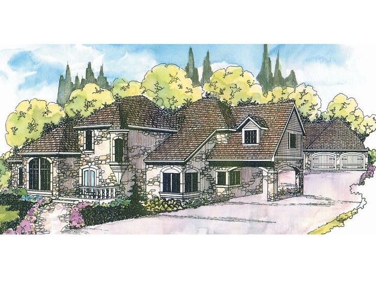 European House Plan, 051H-0005