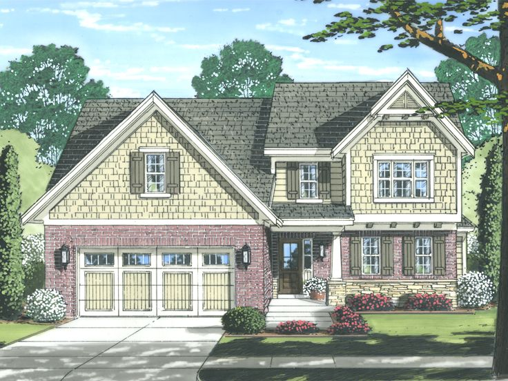Craftsman House Plan, 046H-0072