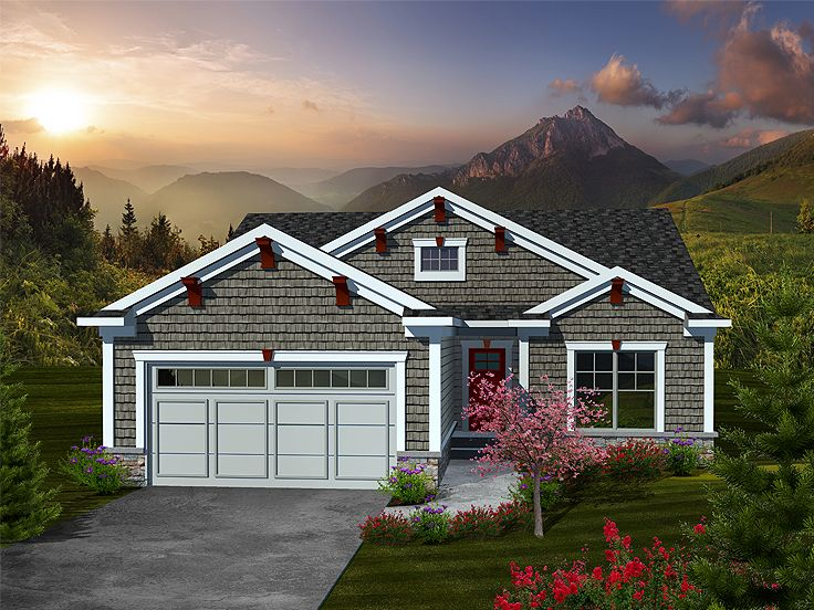 Bungalow Home Plan, 020H-0310