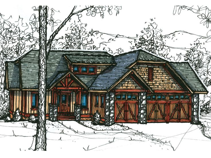 Craftsman European Home, 025H-0199