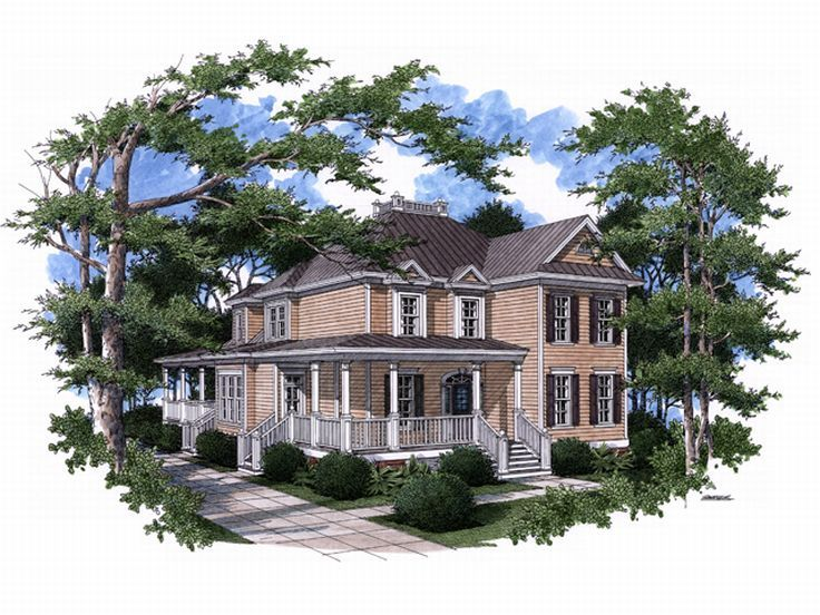 Charleston Home Plan, 017H-0037