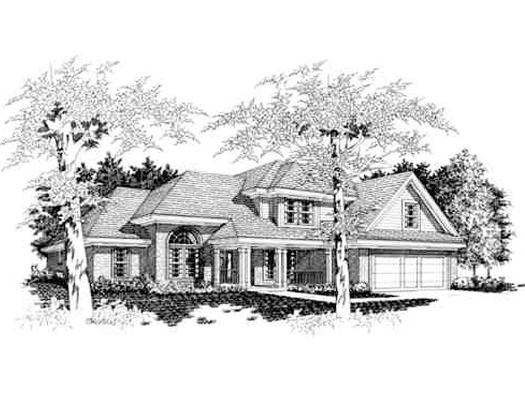 2-Story Home Plan, 061H-0051