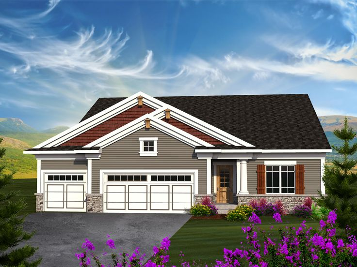 Ranch Home Plan, 020H-0343