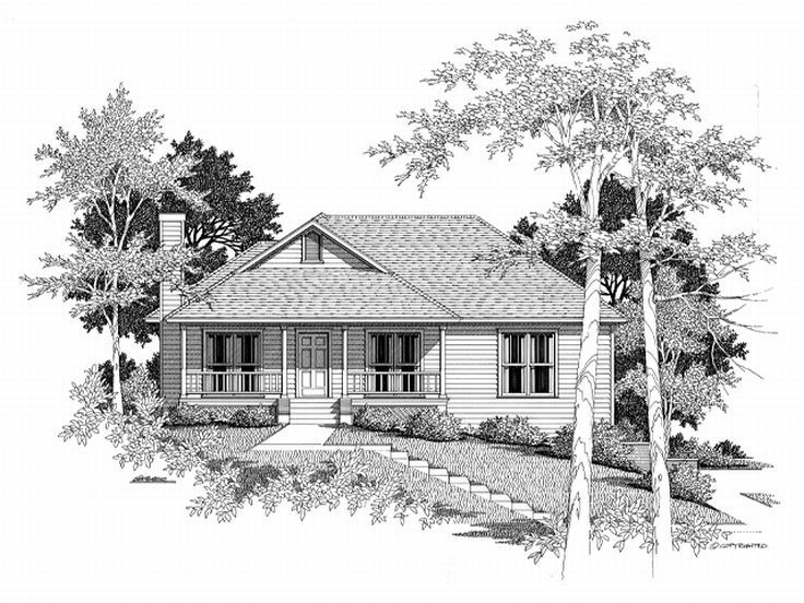 Sloping Lot Home Plan, 030H-0014