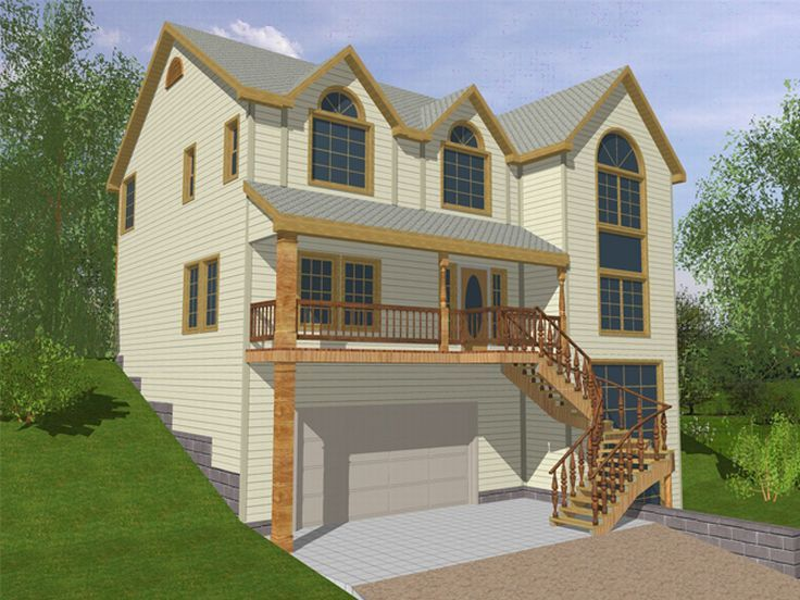 Sloping Lot Home Plan, 012H-0003
