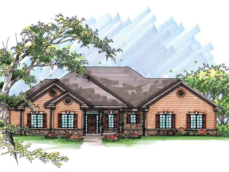 Ranch Home Plan, 020H-0209