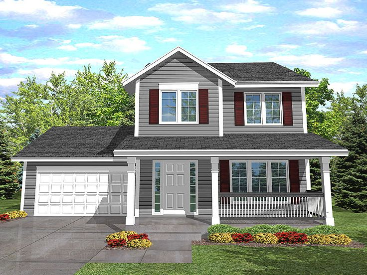 Plan 016h 0003 find unique house plans home plans and for Two story house drawing