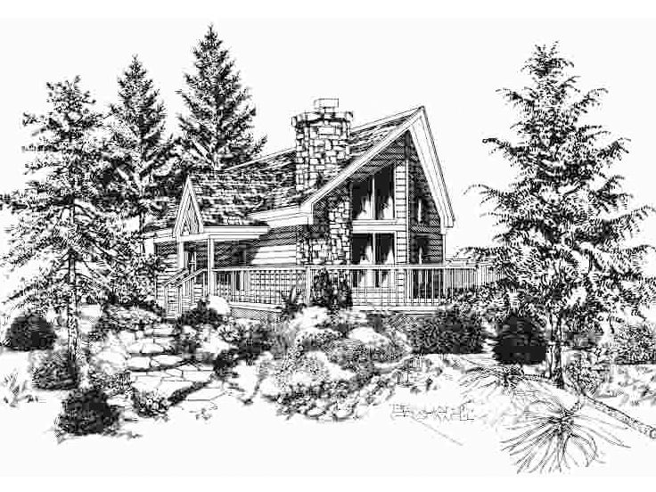 Vacation House Plan, 061H-0027