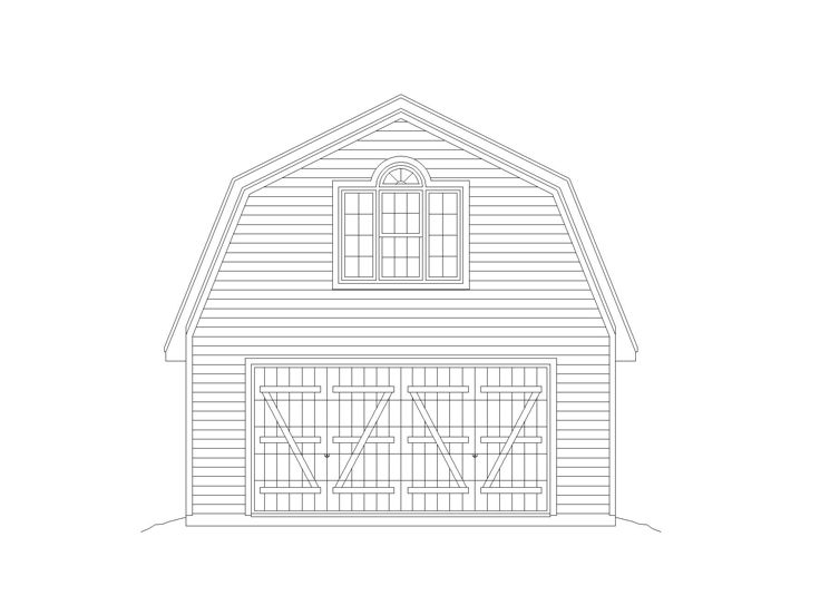 Garage Apartment Plan, 006G-0122