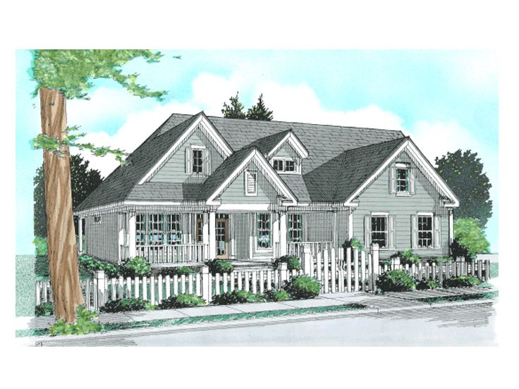 Country Home Plan, 059H-0070