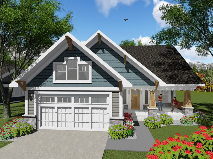 Plan 020h 0401 find unique house plans home plans and for Small empty nester home plans