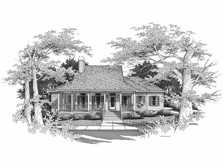 Ranch Home Plan, 030H-0021