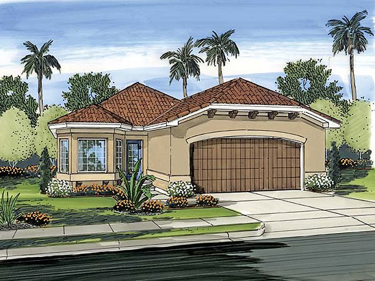 Sunbelt Home Plan, 050H-0012