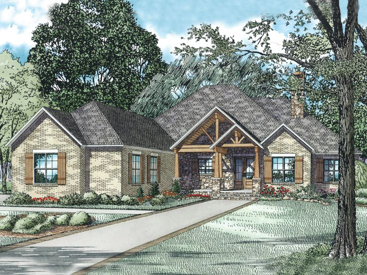 Luxury Craftsman Home, 025H-0282