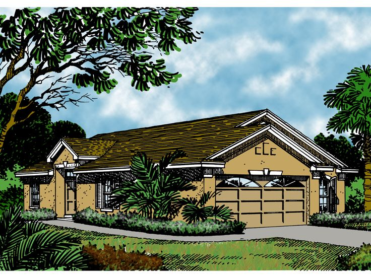 Sunbelt House Plan, 043H-0016