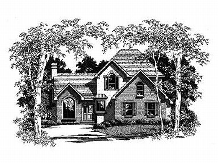 Two-Story Home Plan, 030H-0046