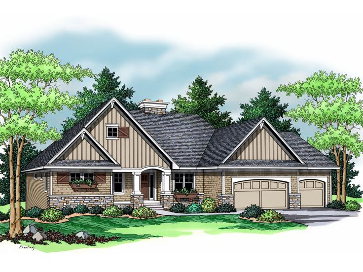 European House Plan, 023H-0097