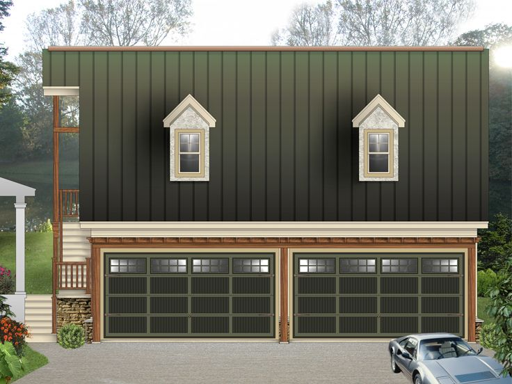 Garage Apartment Plans | 4-Car Garage Apartment Plan # 006G-0142 ...