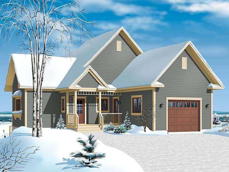 Empty-Nester House Plan, 027H-0225