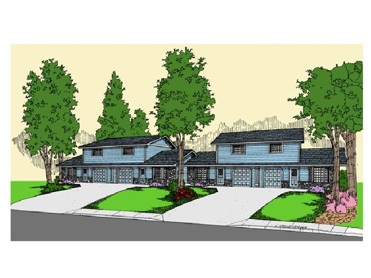 Duplex House Design, 013M-0022