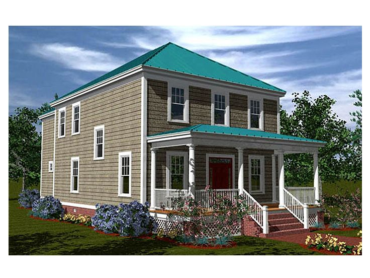 Narrow Lot House Plan, 058H-0054