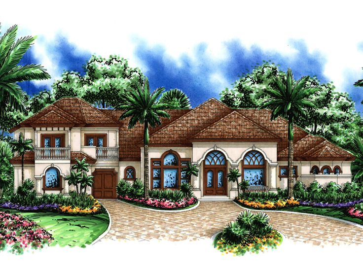 European House Plan, 037H-0156