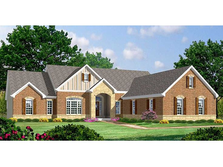 European House Plan, 055H-0001