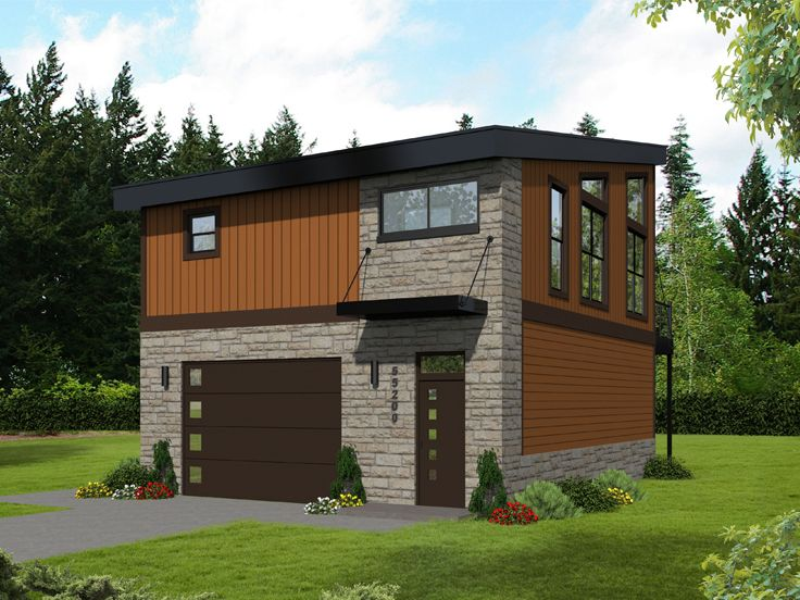 Carriage House Plans | Modern Carriage House Plan # 062G ...