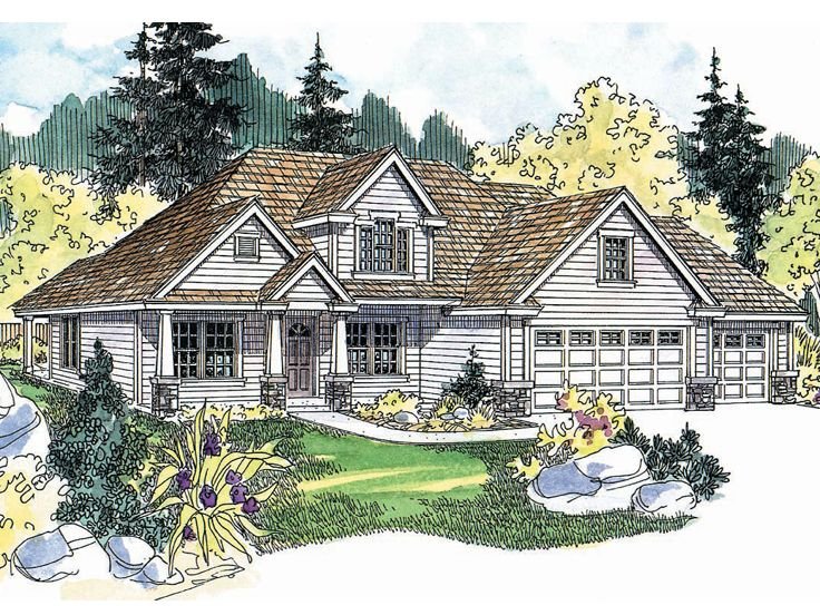 Two-Story House Plan, 051H-0108