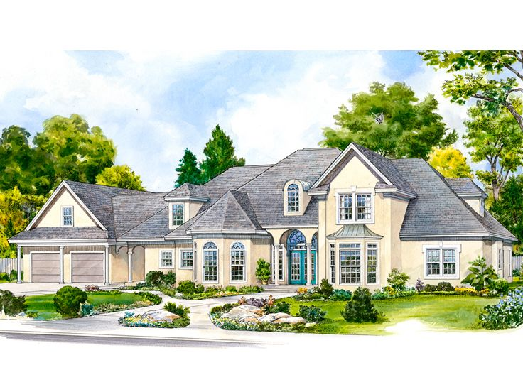 Luxury House Plans Two Story Luxury Home Plan Design