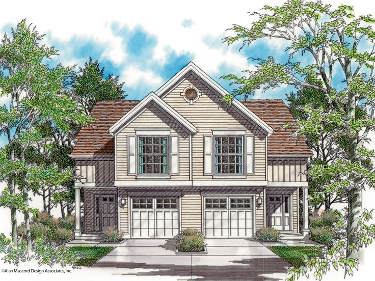 Duplex Home Plan, 034M-0002