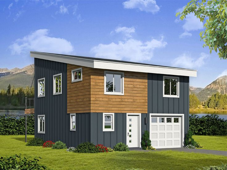 Garage Apartment Plans | Modern Garage Apartment Plan # 062G ...